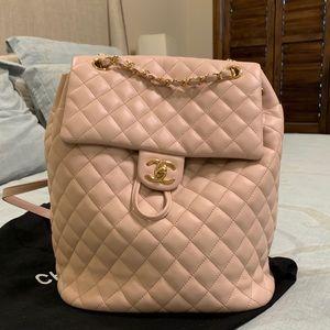 Chanel urban spirit light pink backpack